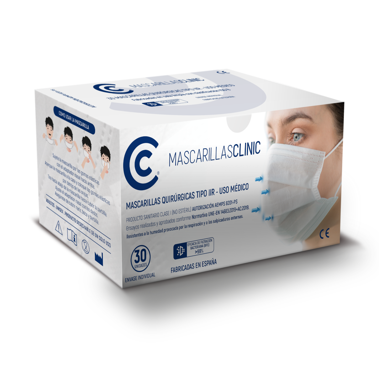 Mascarillas quirúrgicas Clinic 30 uds