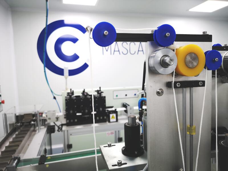 Mascarillas Clinic Sala fabricación mascarillas quirúrgicas IIR Sala Limpia ISO 8 Limpieza Microbiana