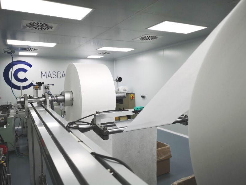 Mascarillas Clinic Sala fabricación mascarillas quirúrgicas IIR